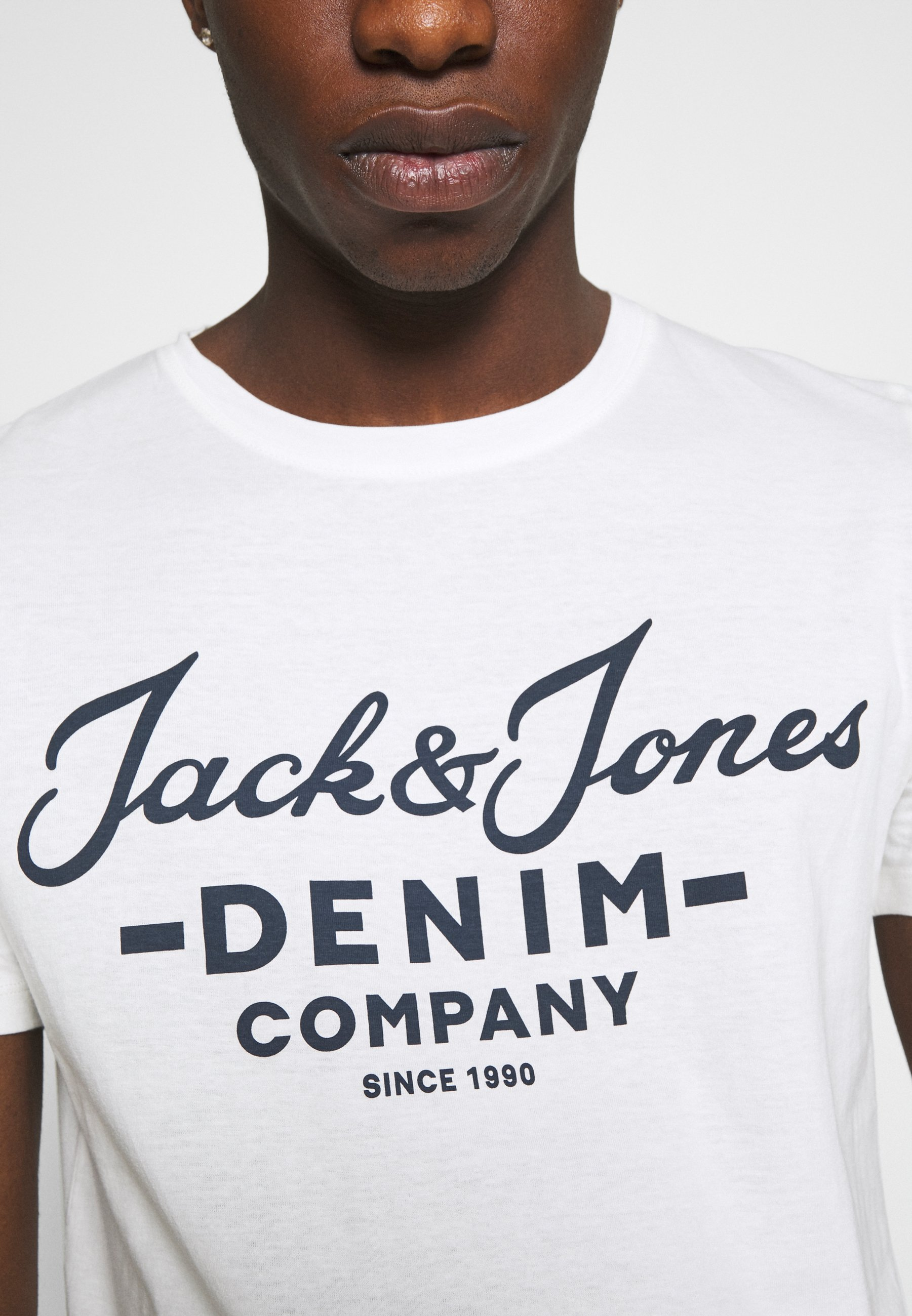 Jack & Jones JJHERO TEE CREW NECK 2 PACK - Print T-shirt - cloud dancer kjbzg