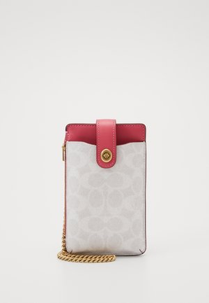 SIGNATURE BLOCKING TURNLOCK CHAIN PHONE CROSSBODY - Mobiltasker - chalk/confetti pink