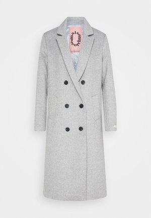 TAILORED DOUBLE BREASTED COAT - Classic coat - light grey melange