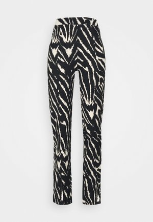 AIRY TROUSERS - Pantalones - white/black