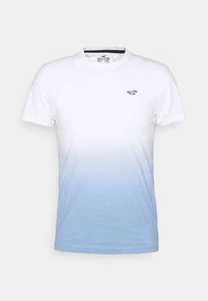 CREW OMBRE - Print T-shirt - white/blue
