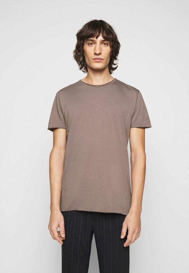 Filippa K - ROLLNECK - Basic T-shirt - dark taupe