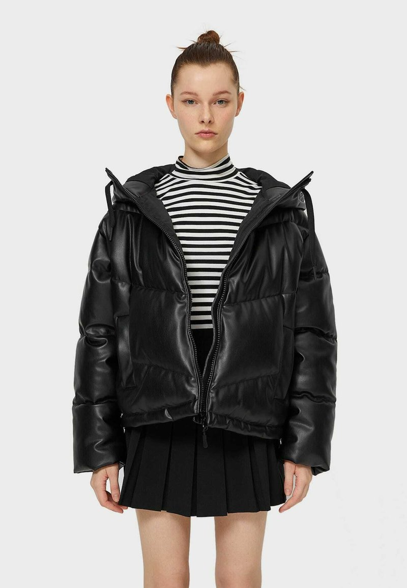 Stradivarius - Winter jacket - black