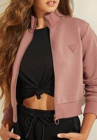 Guess - Zip-up hoodie - rose - 4