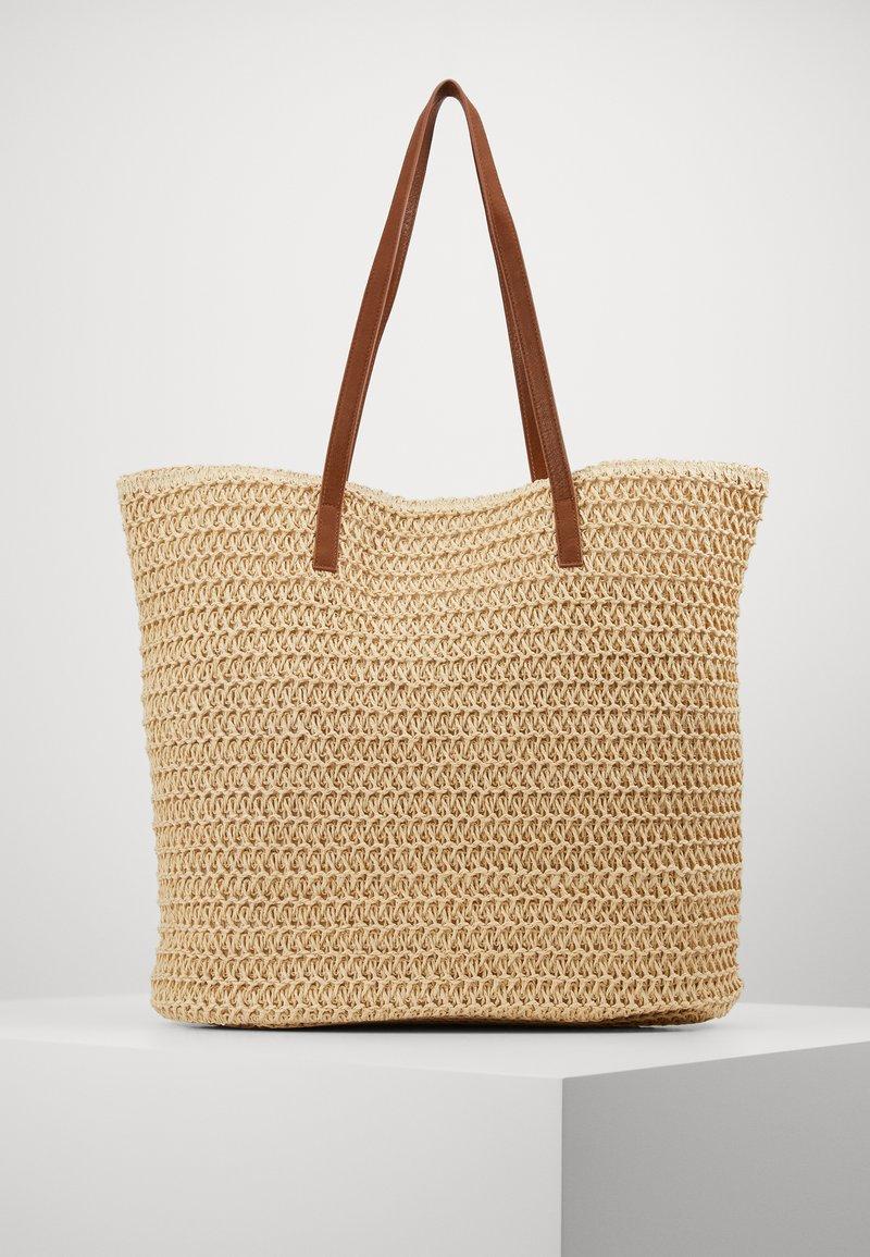 Vero Moda - VMSISSO BEACH BAG - Velká kabelka - creme brûlée
