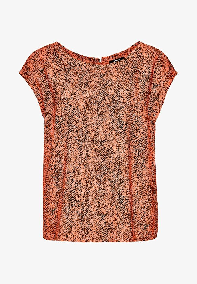 Opus - Print T-shirt - orange