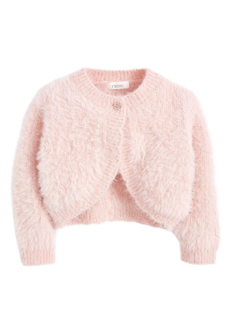 Next - PINK SPARKLE FLUFFY SHRUG CARDIGAN (12MTHS-16YRS) - Kardigan - pink