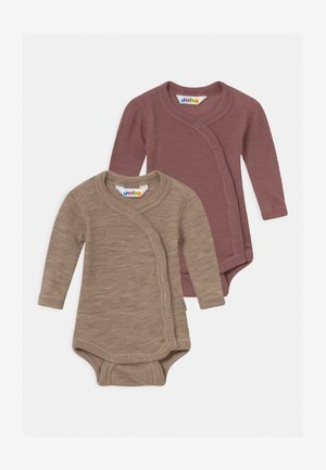 SIDECLOSING 2 PACK UNISEX - Body - mottled light brown