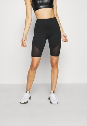 CYCLING SHORTS WITH PANEL CORE - Tights - black