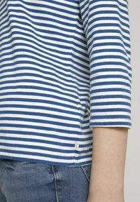 TOM TAILOR DENIM - Long sleeved top - indigo blue creme stripe - 3
