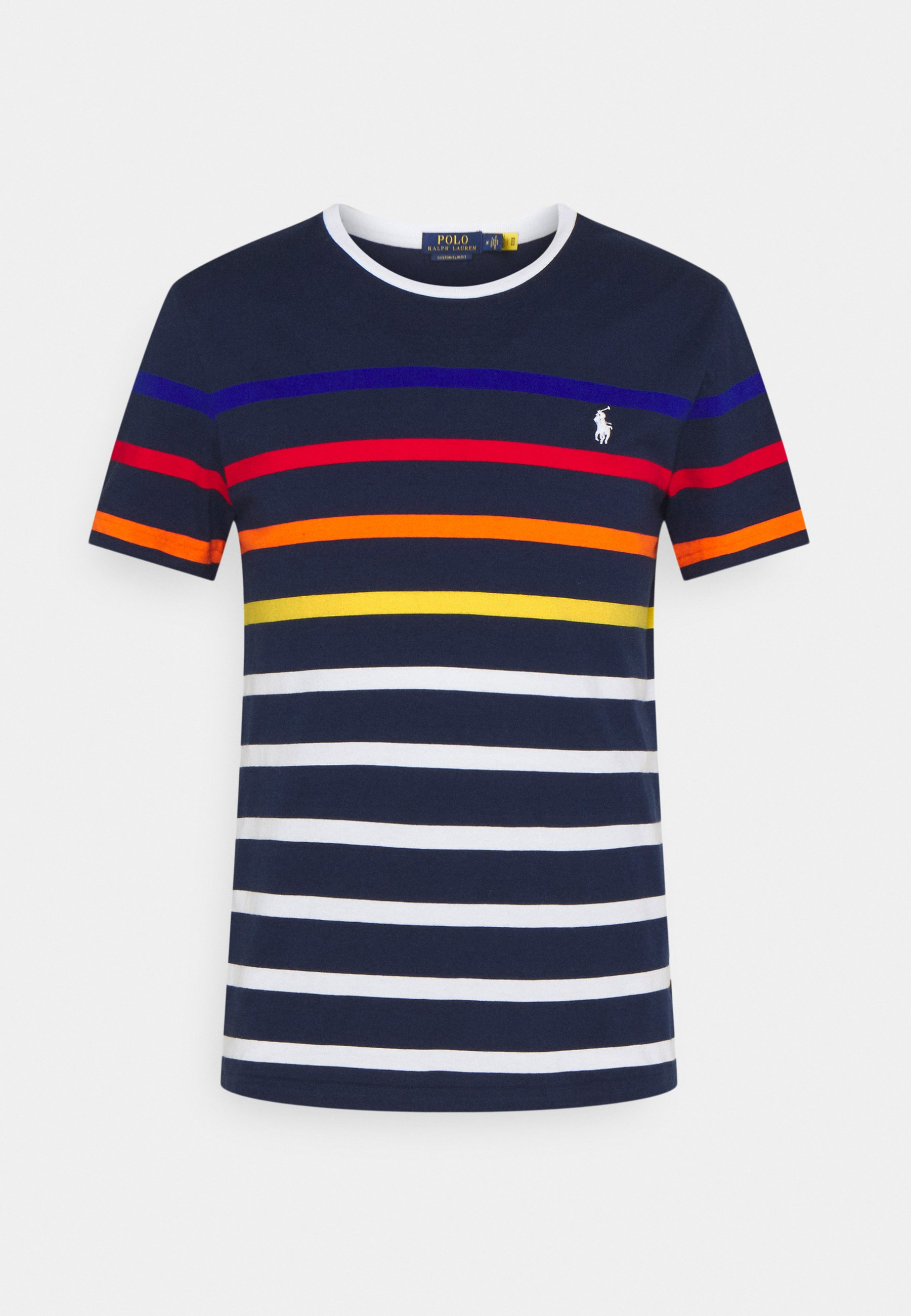 Homme CUSTOM SLIM FIT STRIPED CREWNECK T-SHIRT - T-shirt imprimé