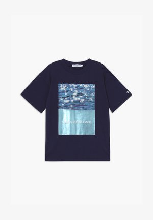PHOTO OVERSIZED  - T-shirt con stampa - blue