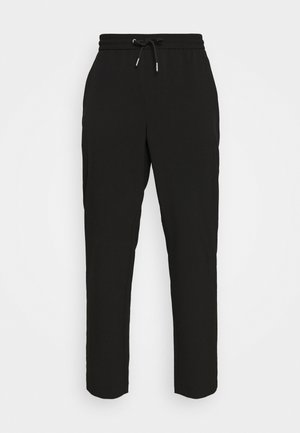 WITH DRAWSTRING - Trousers - black