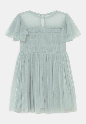 GATHERED BODICE RUFFLE DRESS - Cocktailjurk - pale blue
