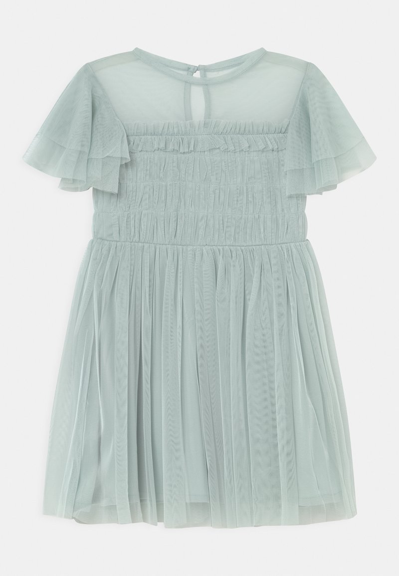 Anaya with love - GATHERED BODICE RUFFLE DRESS - Vestido de cóctel - pale blue