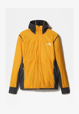 M SPEEDTOUR ALPHA HOODIE JACKET - Outdoorjacka - summit gold/vanadis grey