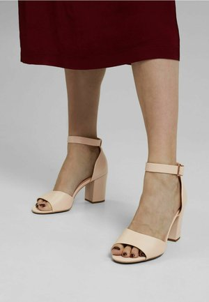 Peeptoe heels - sand