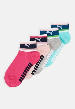 GIRLS SEASONAL STRIPE QUARTER 4 PACK - Ponožky - mixed/grey melange
