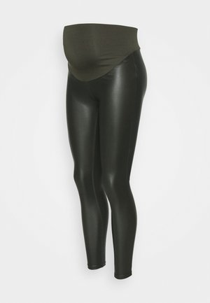 COATED - Legginsy - olive