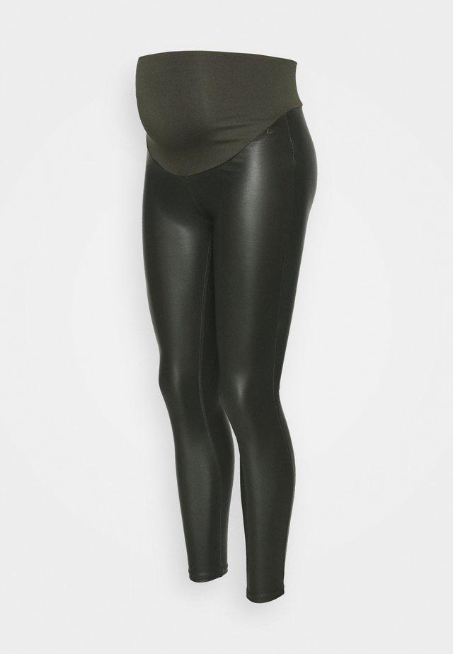 COATED - Legging - olive
