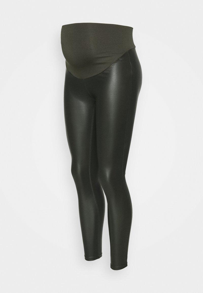 LOVE2WAIT - COATED - Leggings - Trousers - olive