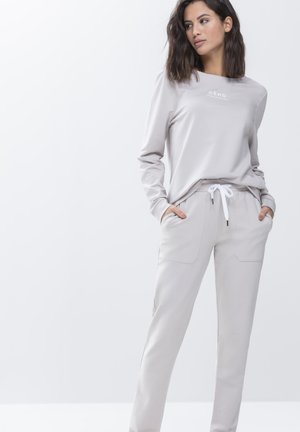 LANGE HOMEWEAR HOSE SERIE HOME OFFICE - Pyjama bottoms - mineral grey