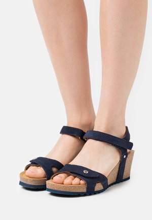 JULIA MENORCA - Platform sandals - navy