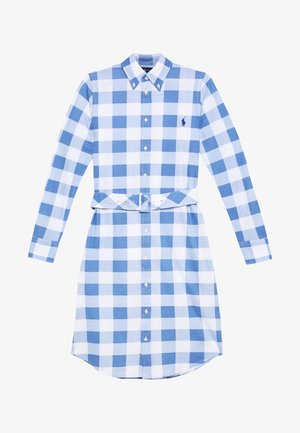 HEIDI LONG SLEEVE CASUAL DRESS - Shirt dress - blue/white