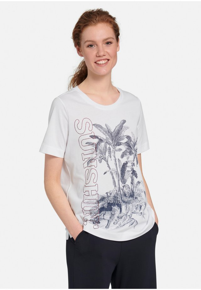 T-shirts print - weiß/multicolor