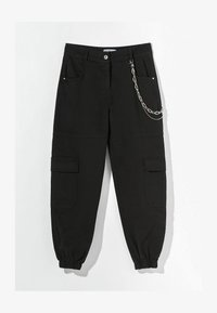 Bershka - MIT KETTE  - Kalhoty - black - 4