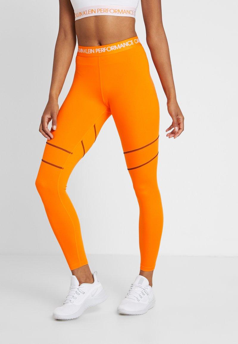 Calvin Klein Performance - FULL LENGTH  - Leggings - orange
