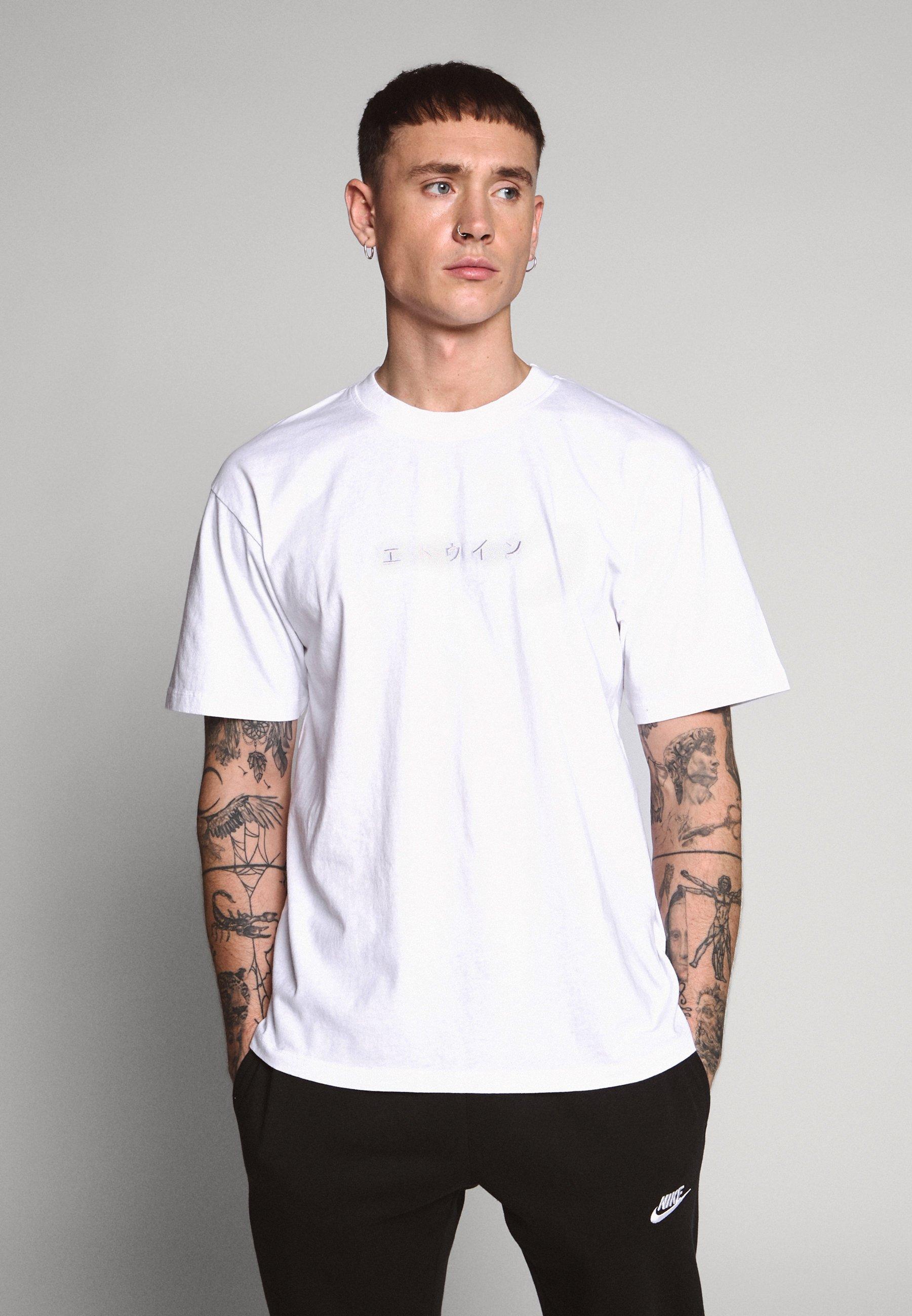 Men KATAKANA EMBROIDERY UNISEX  - Basic T-shirt