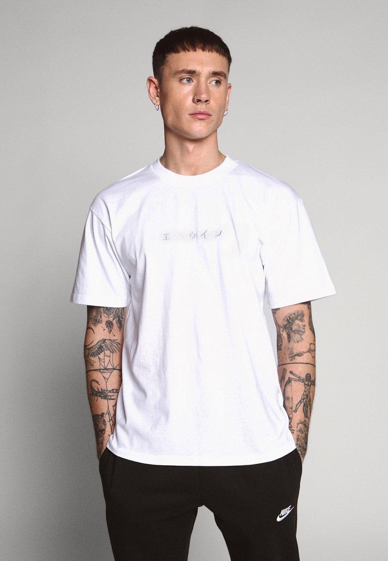 Edwin - KATAKANA EMBROIDERY UNISEX  - T-shirt basic - white