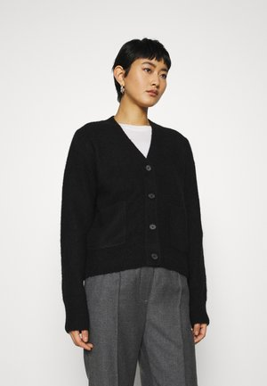 HEAVY KNIT - Cardigan - black