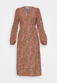 NMNIKA CALF DRESS - Day dress - hot chocolate
