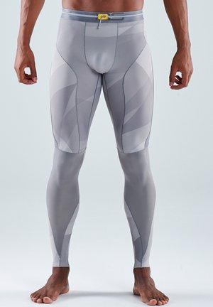 Leggings - grey geo
