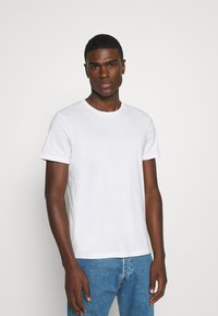 Burton Menswear London - SHORT SLEEVE CREW 5 PACK - T-Shirt basic - black/white/navy/light grey marl/burgundy marl - 1