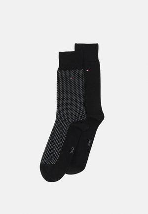 MEN SEASONAL SOCK GRAPHIC 2 PACK - Calze - black
