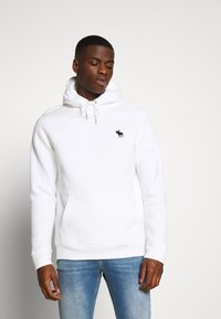 Abercrombie & Fitch - EXPLODED ICON POPOVER - Jersey con capucha - white - 0