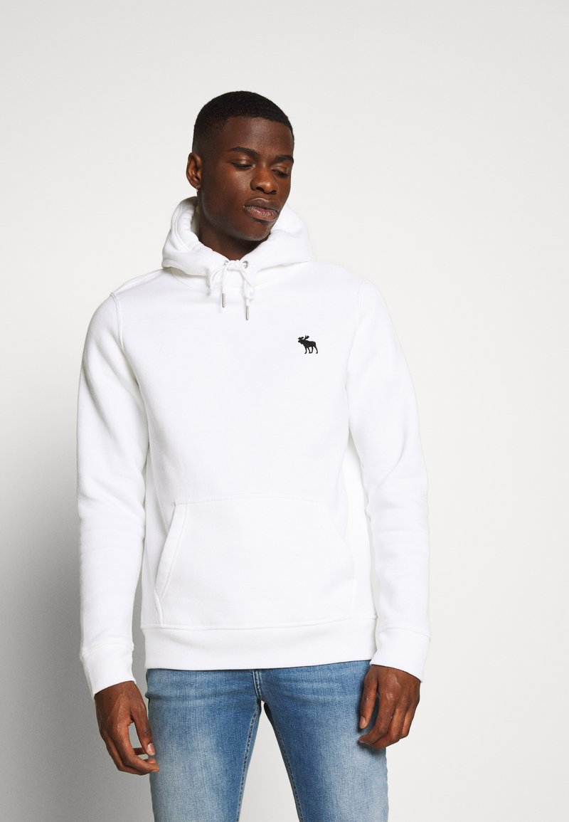 Abercrombie & Fitch - EXPLODED ICON POPOVER - Jersey con capucha - white