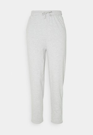 TAPERED LEG SLIM FIT JOGGER - Tracksuit bottoms - mottled light grey