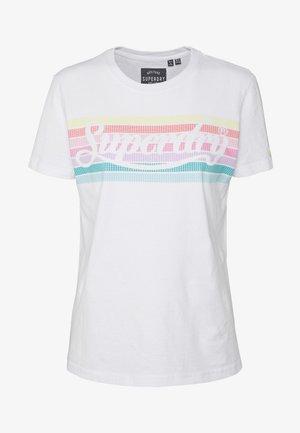 RAINBOW ENTRY TEE - T-shirt imprimé - optic
