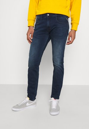 ANBASS - Straight leg jeans - dark-blue denim