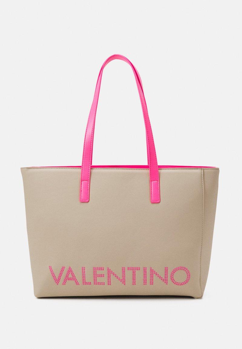 Valentino Bags - PORTIA - Tote bag - ecru/fuxia fluo