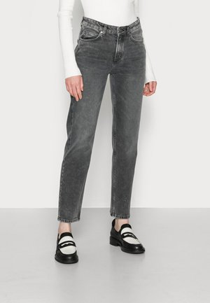 TROUSER HIGH WAIST CROPPED LENGTH - Straight leg jeans - sustainable grey wash