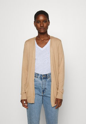 BASIC- Pocket cardigan - Neuletakki - camel