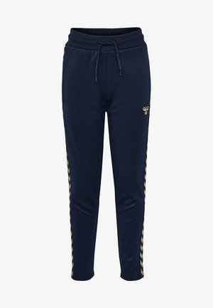 HMLKICK - Tracksuit bottoms - black iris/gold