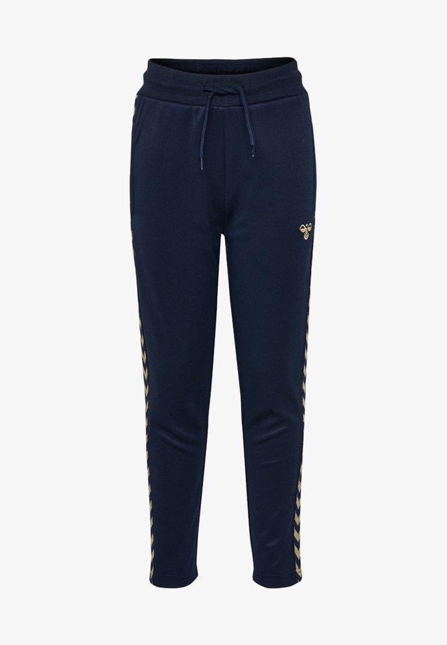 HMLKICK - Spodnie treningowe - black iris/gold