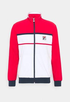 JACKET MAX - Training jacket - white/red
