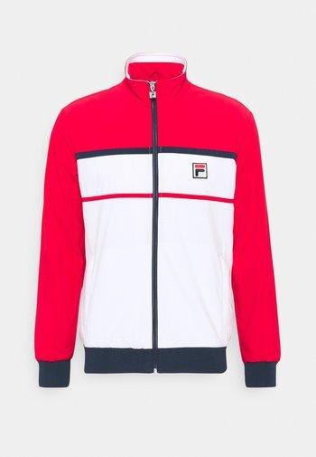 JACKET MAX - Träningsjacka - white/red
